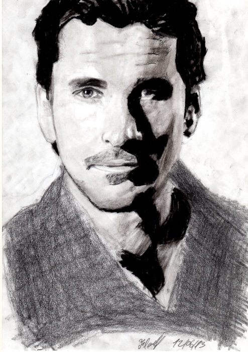 Christian Bale by Flave